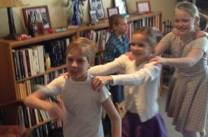 Conga line dance